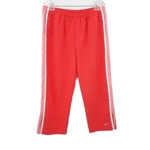 Nike Coral Side Stripe Athletic Wind Capri Pant XL